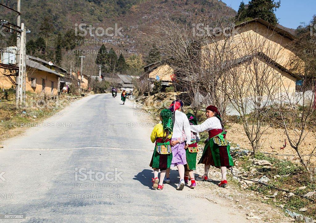 Hmong girls stock photo