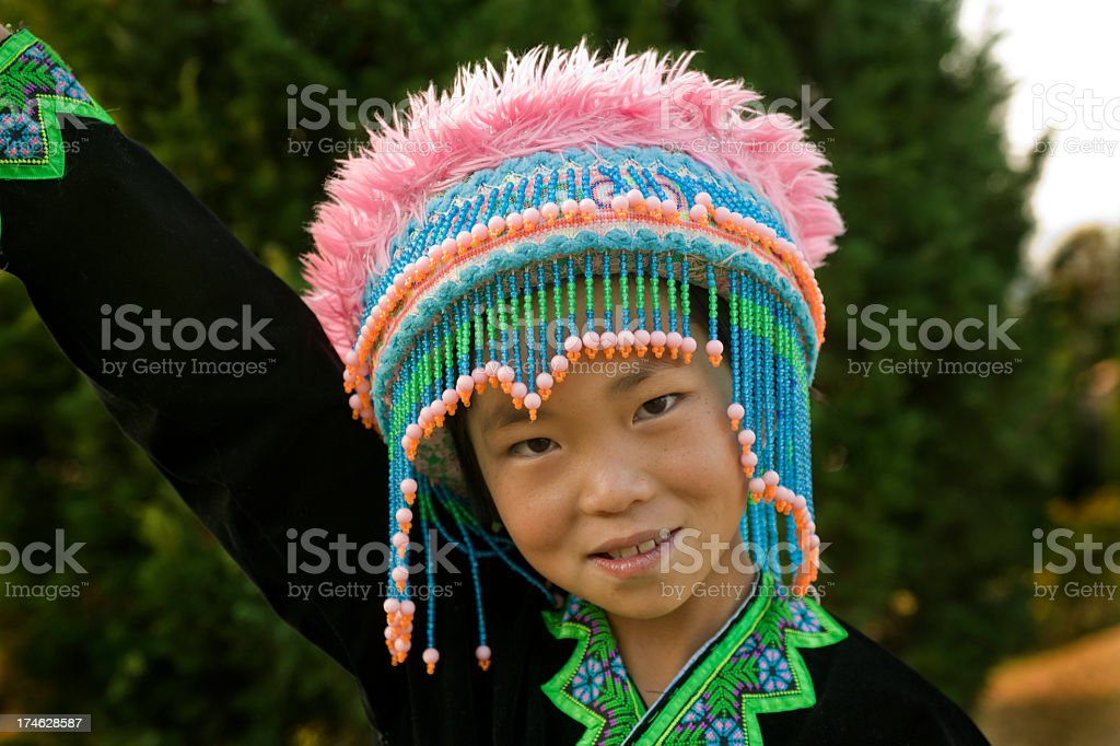 Hmong Hill Tribe Girl royalty-free stock photo