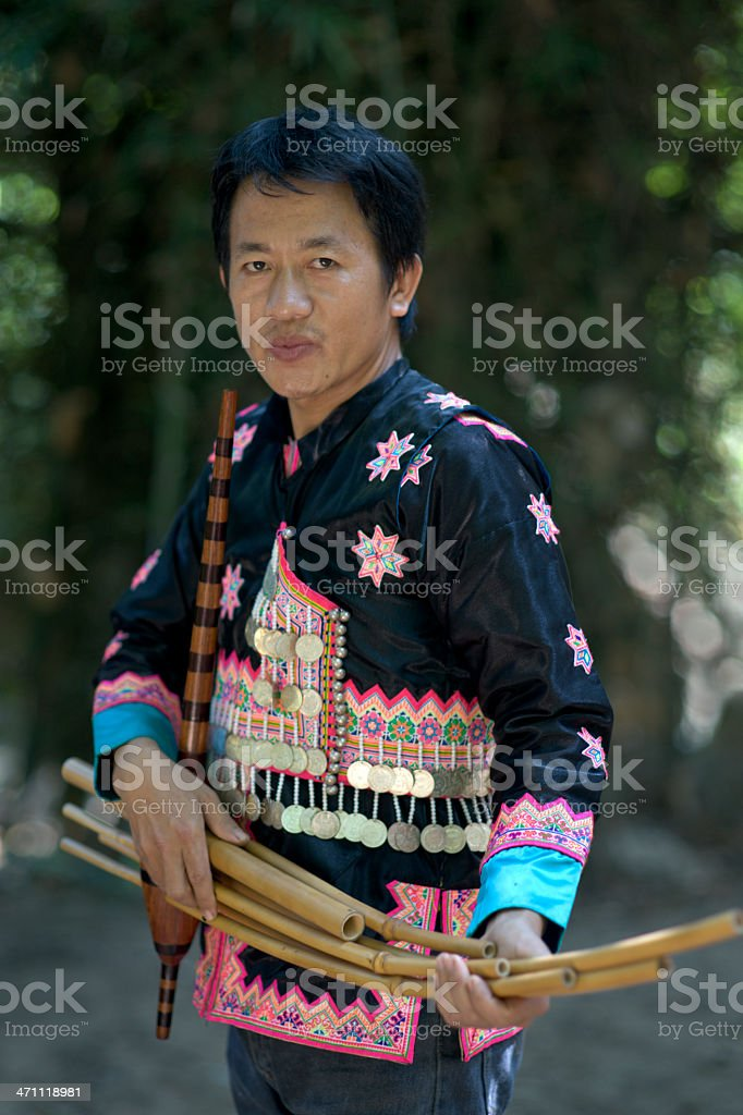 Hmong Instrument Maker royalty-free stock photo