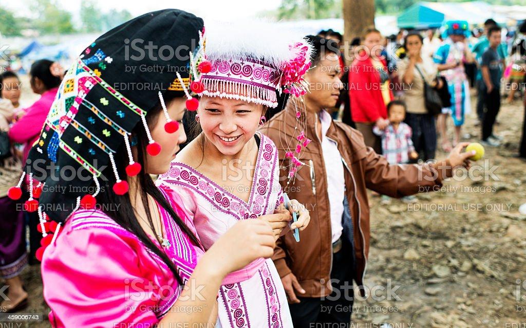 Hmong New Year Beauties stock photo