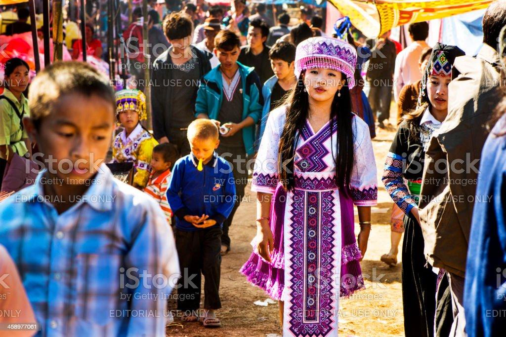 Hmong New Year Celebration royalty-free stock photo