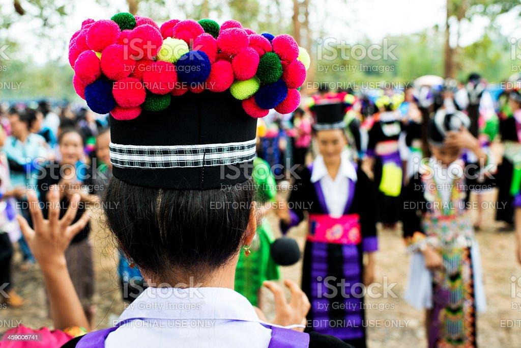 Hmong New Year stock photo