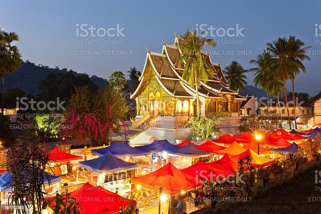 Hmong Night Market In Luang Prabang, Laos stock photo