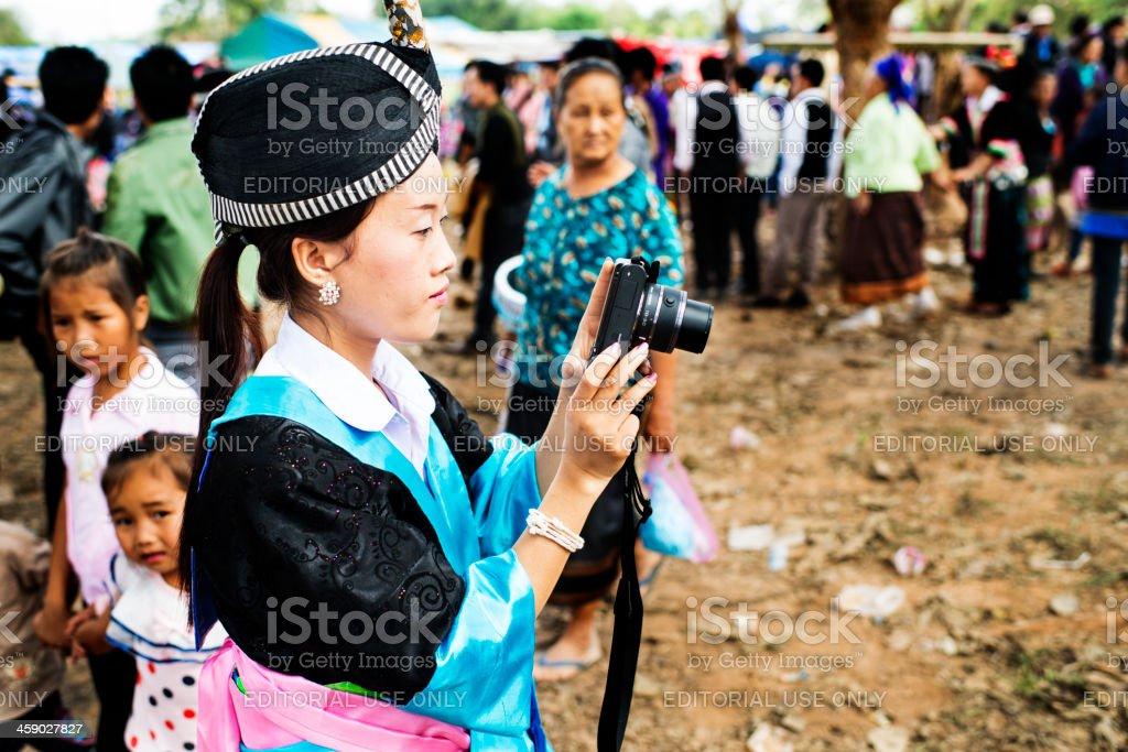 Hmong Photographer stock photo