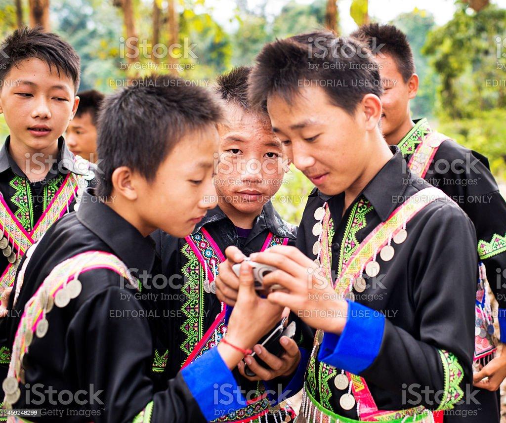 Hmong Young Men stock photo