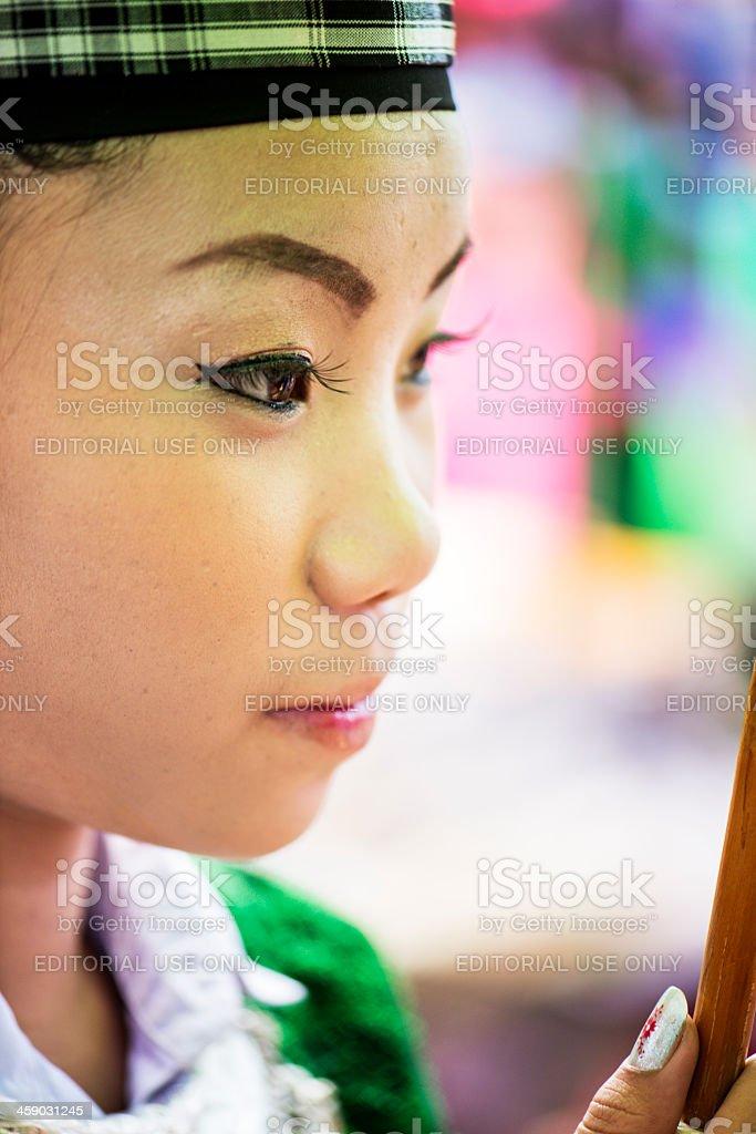 Hmong Young Woman stock photo