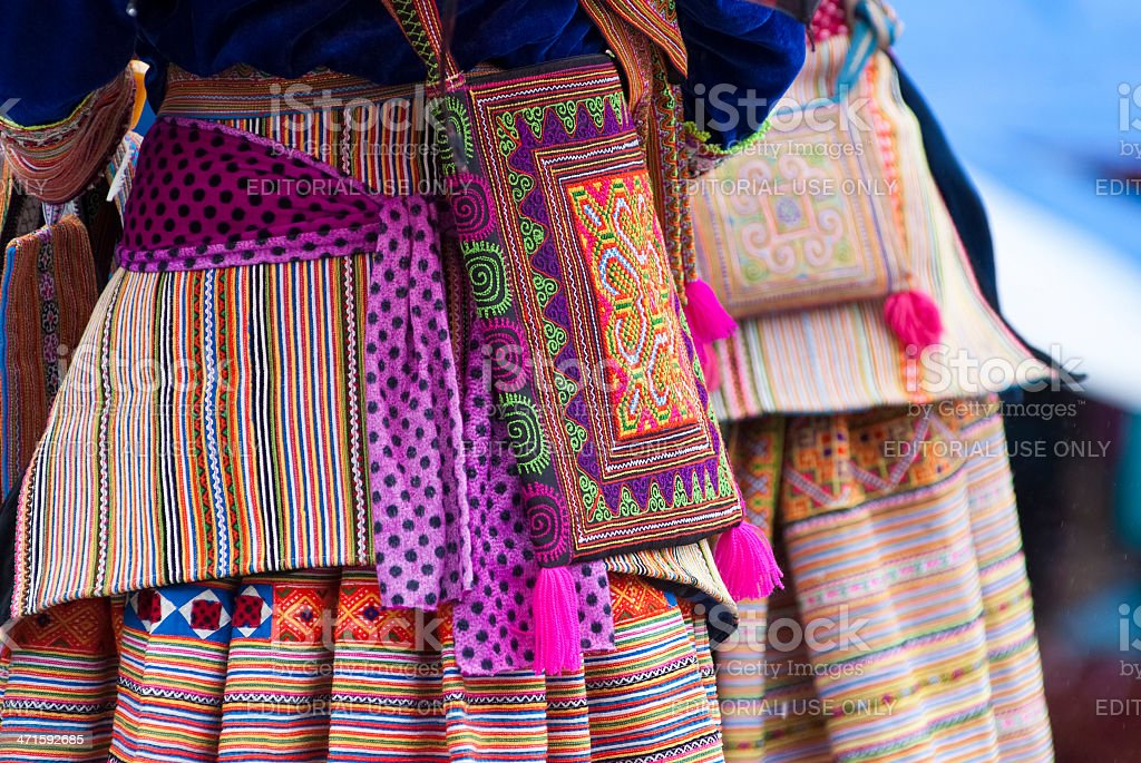 Hmong's costume stock photo