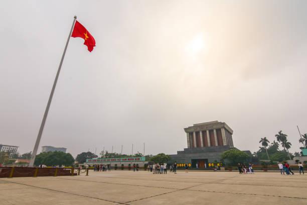 Ho Chi Min mausoleum stock photo