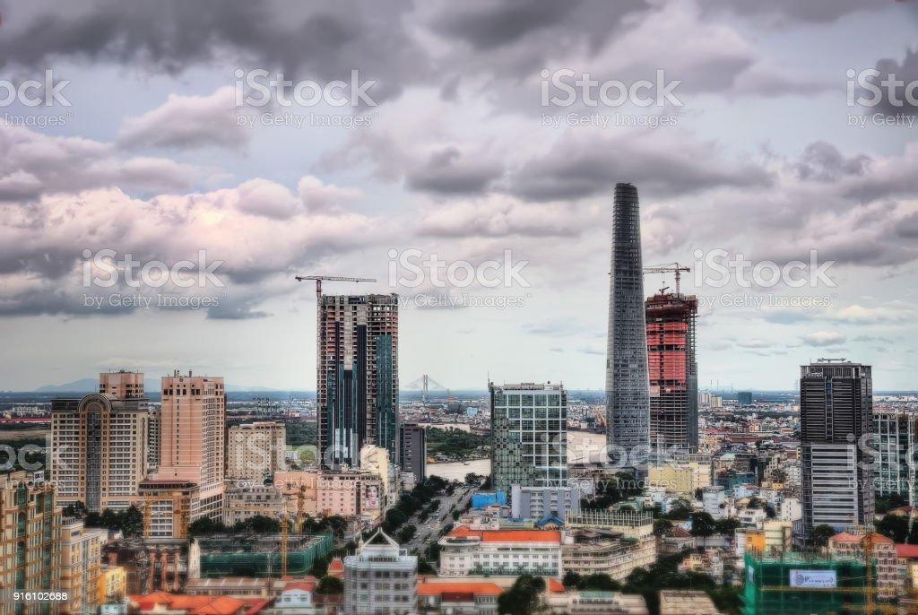 Ho Chi Minh City Aerial stock photo