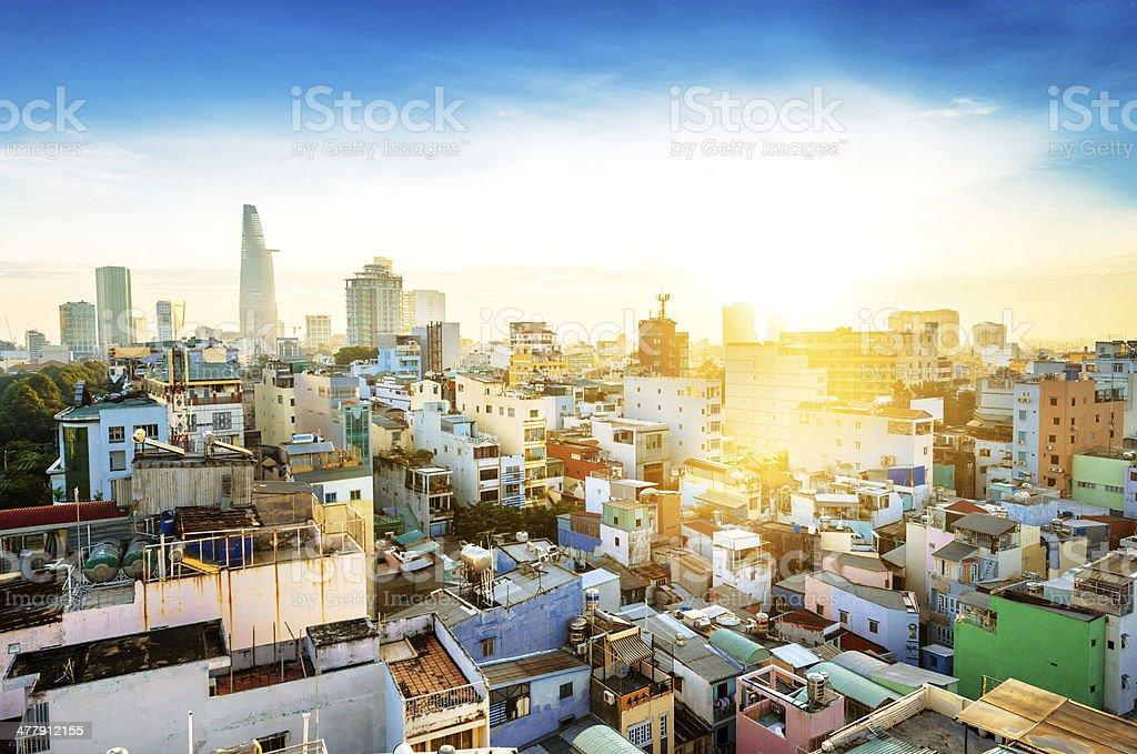 Ho Chi Minh City Skyline royalty-free stock photo