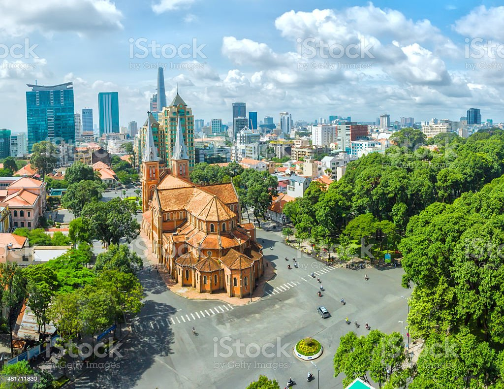 Ho Chi Minh City sunny day stock photo