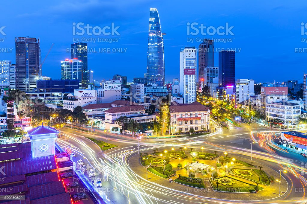 Ho Chi Minh City, Vietnam stock photo