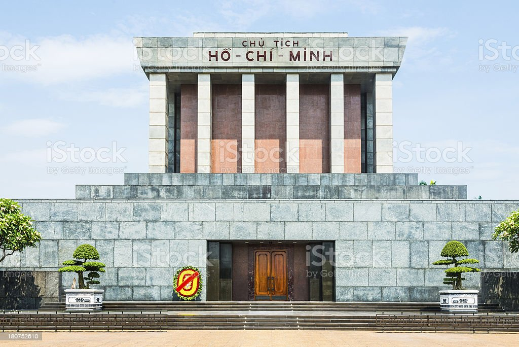 Ho Chi Minh Mausoleum in Hanoi, Vietnam royalty-free stock photo