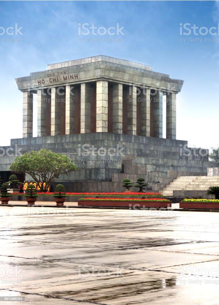 Ho Chi Minh mausoleum, Saigon, Vietnam stock photo