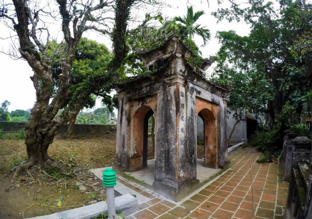 hoa lu tempel gärten - ninh binh province, vietnam, asien - holu stock-fotos und bilder