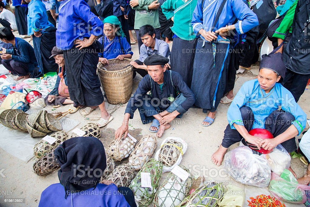 Hoang Su Phi market stock photo