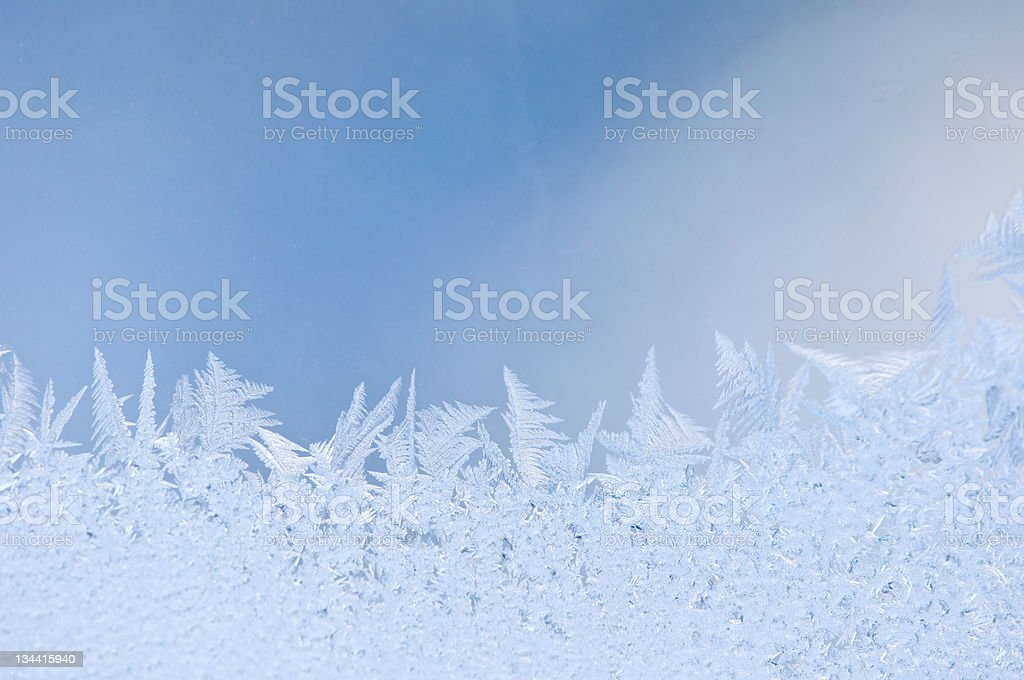 Hoarfrost Frost Ice Crystals Closeup royalty-free stock photo