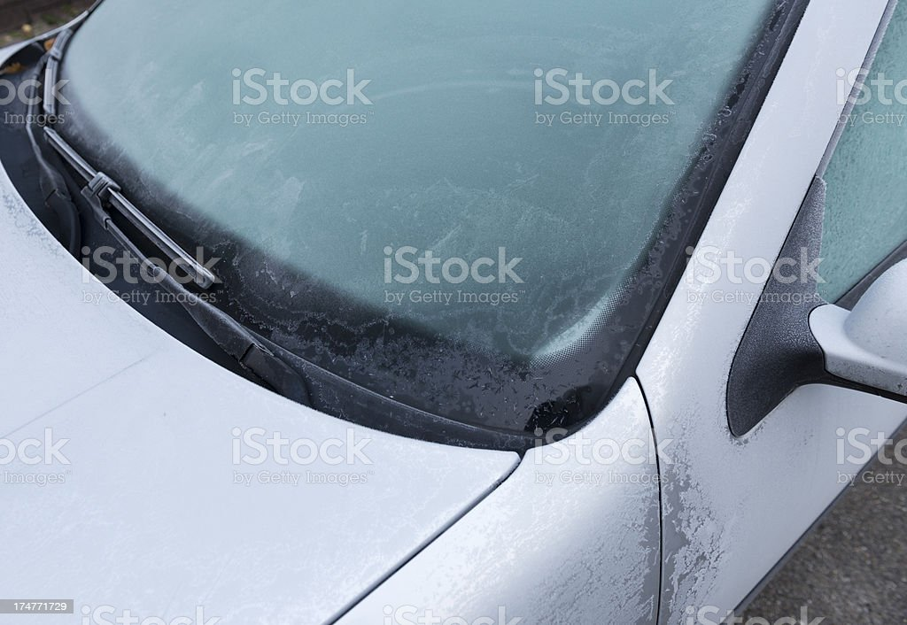 Hoarfrost on a car  (image size XXXL) stock photo