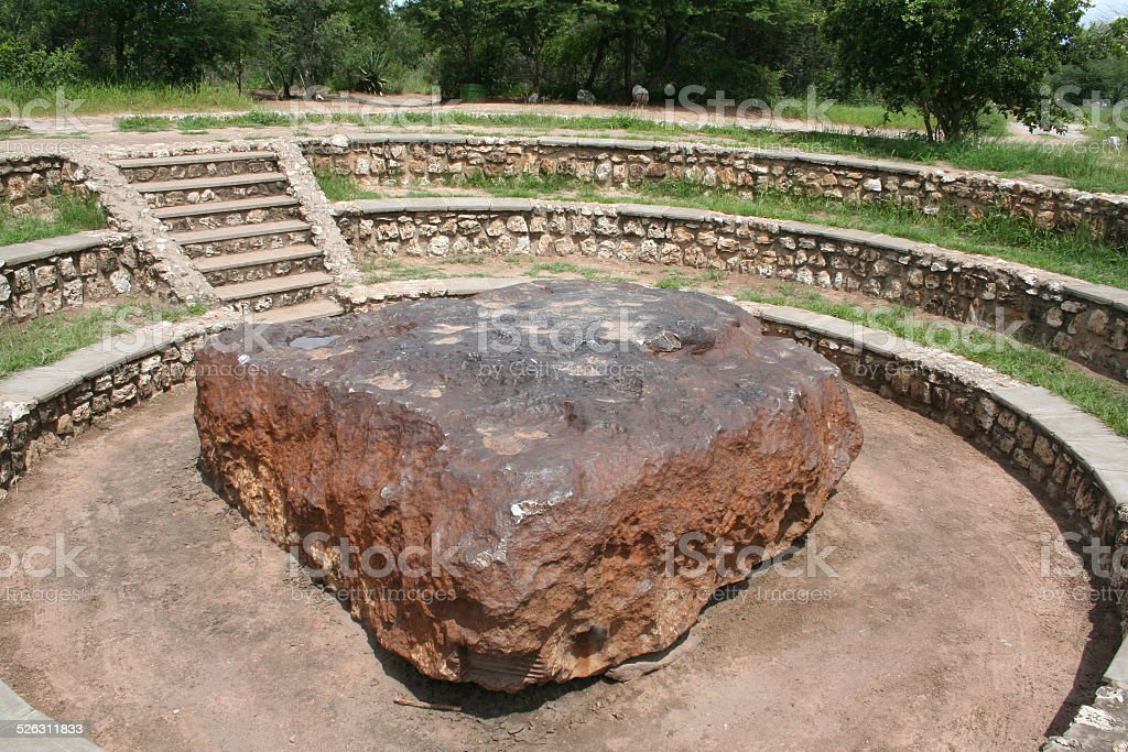 Hoba, Largest Meteorite on Earth, Namibia, Africa stock photo