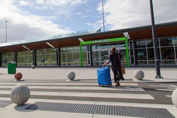 Hobart Airport - Tasmania stock photo