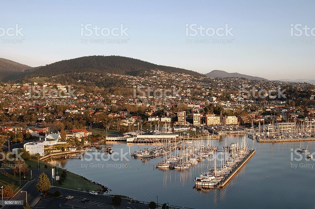 Hobart Harbour stock photo