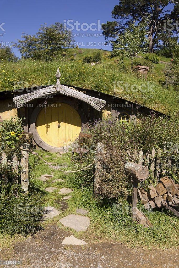 Hobbiton - Hobbit Hole stock photo