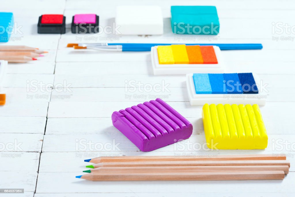 DIY hobby art craft equipments royalty-free stock photo