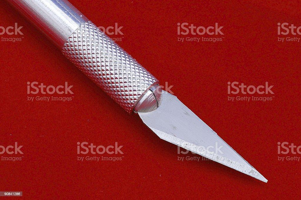 Hobby Knife Blade Closeup royalty-free stock photo