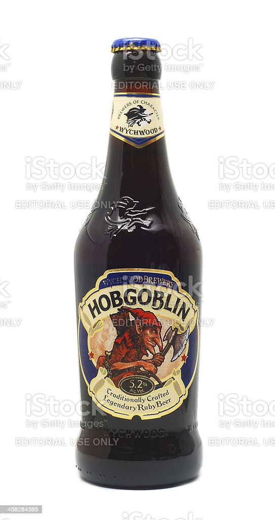 hobgoblin beer stock photo