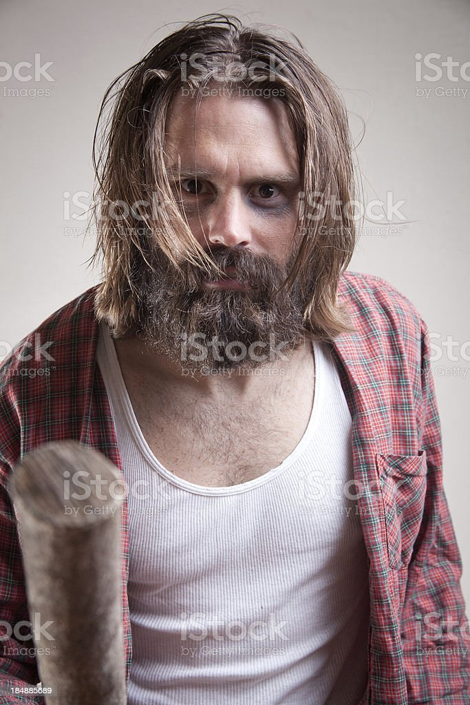 Hobo: Shaking a Stick royalty-free stock photo