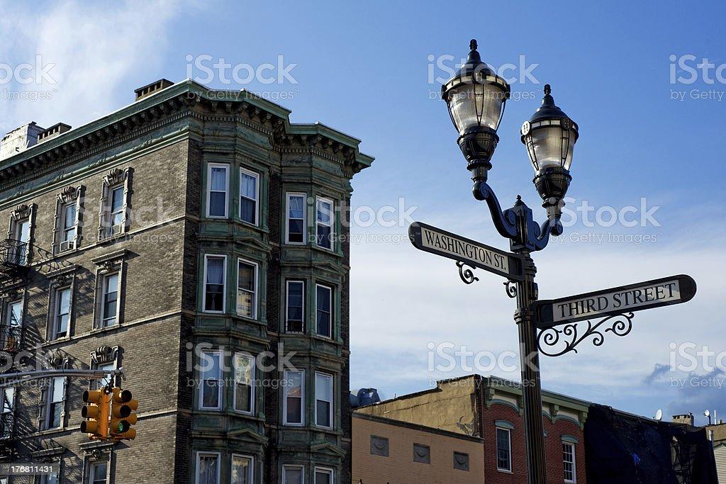 Hoboken downtown stock photo