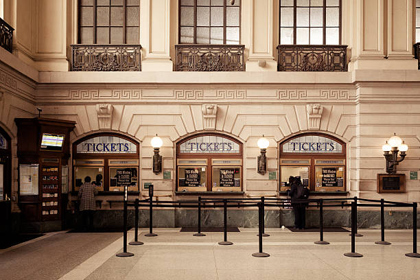 Hoboken Terminal Ticket Booths stock photo