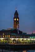 Clock tower of the Hoboken Train Station in New Jersey
