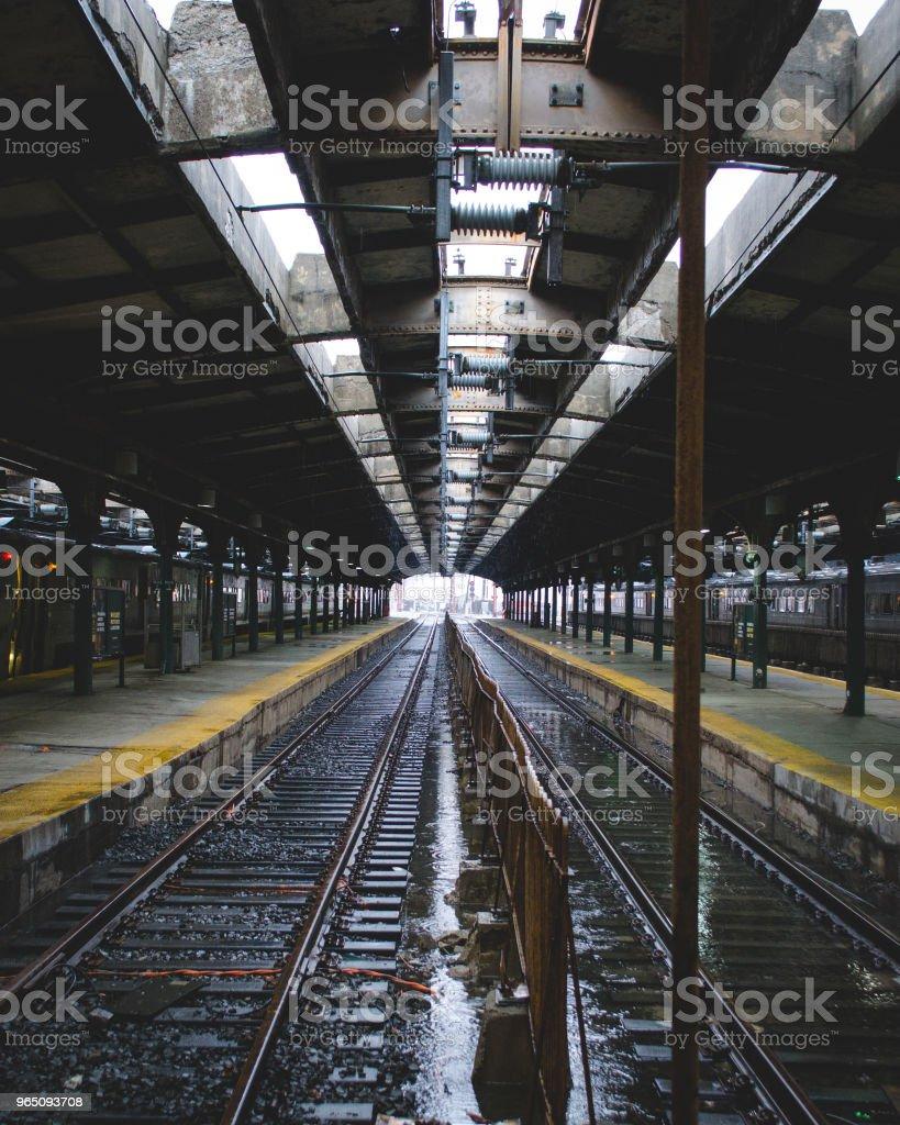 Hoboken Train Station Platform & Tracks royalty-free stock photo