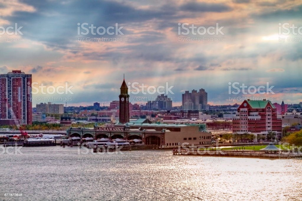 Hoboken Waterfront royalty-free stock photo
