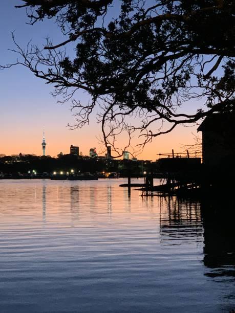 Hobson Bay stock photo