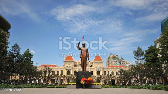 Hochi min sculpted in city Vietnam