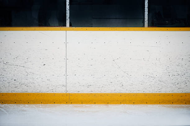 Hockey arena boards background stock photo