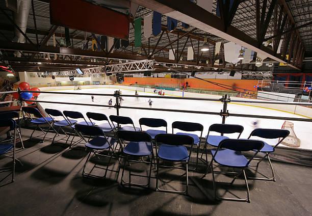 Hockey Arena VIP Section stock photo
