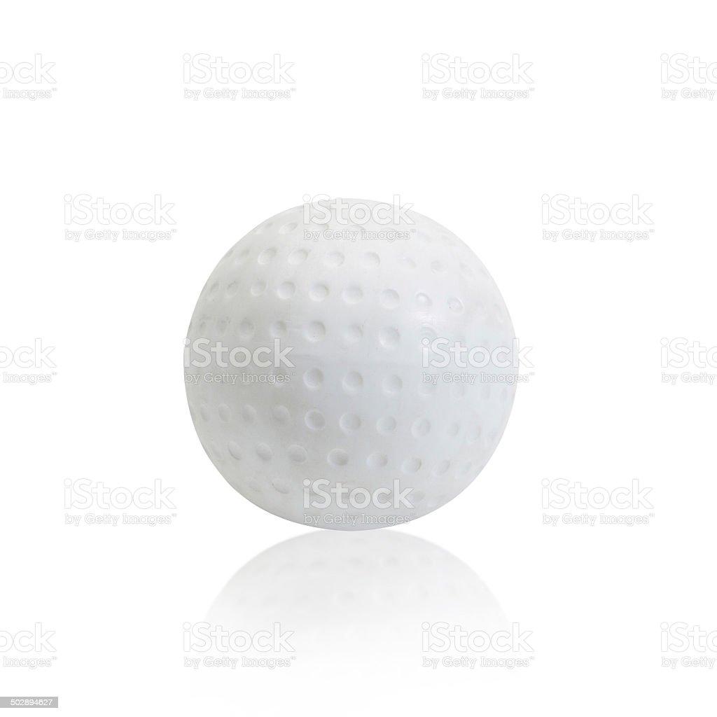 Hockey ball isolated on white background stock photo