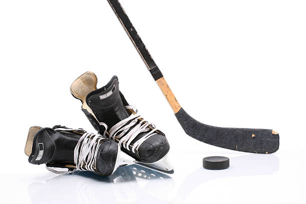 hockey equipment - hockey stick stock pictures, royalty-free photos & images