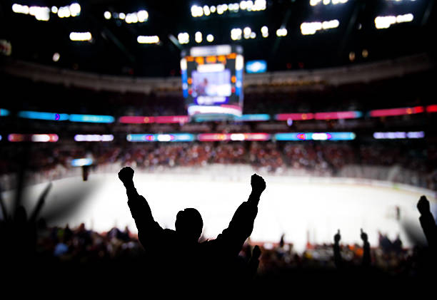 hockey excitement - hockey stock pictures, royalty-free photos & images