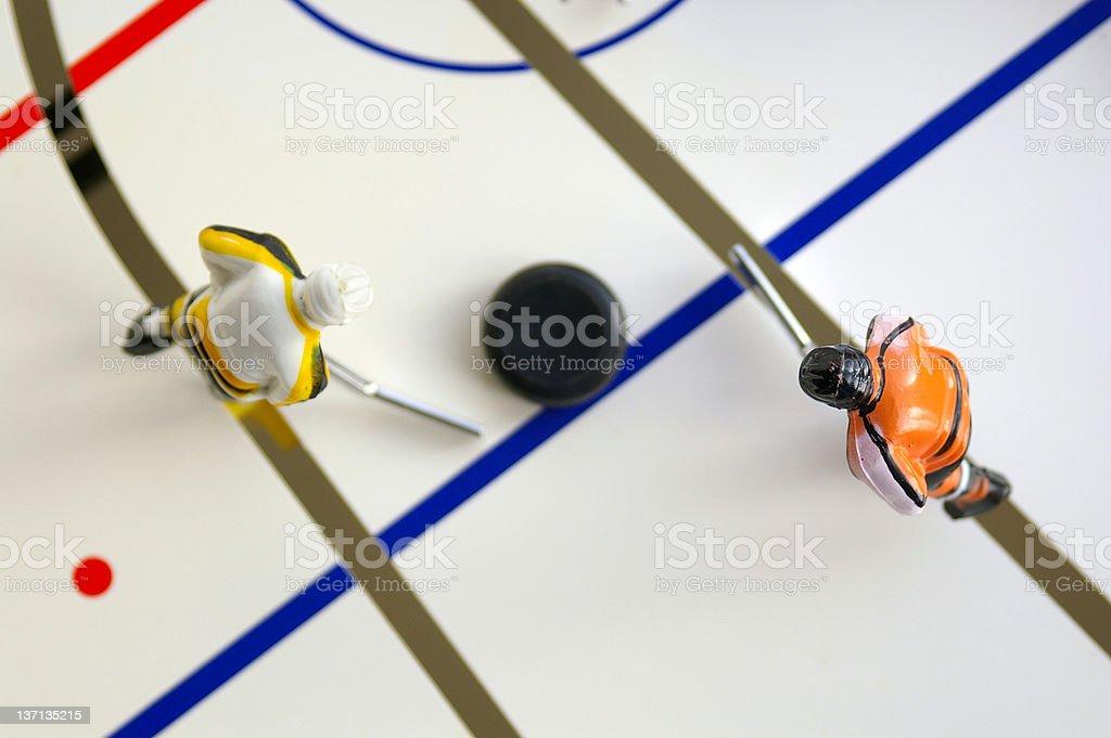 Hockey game royalty-free stock photo