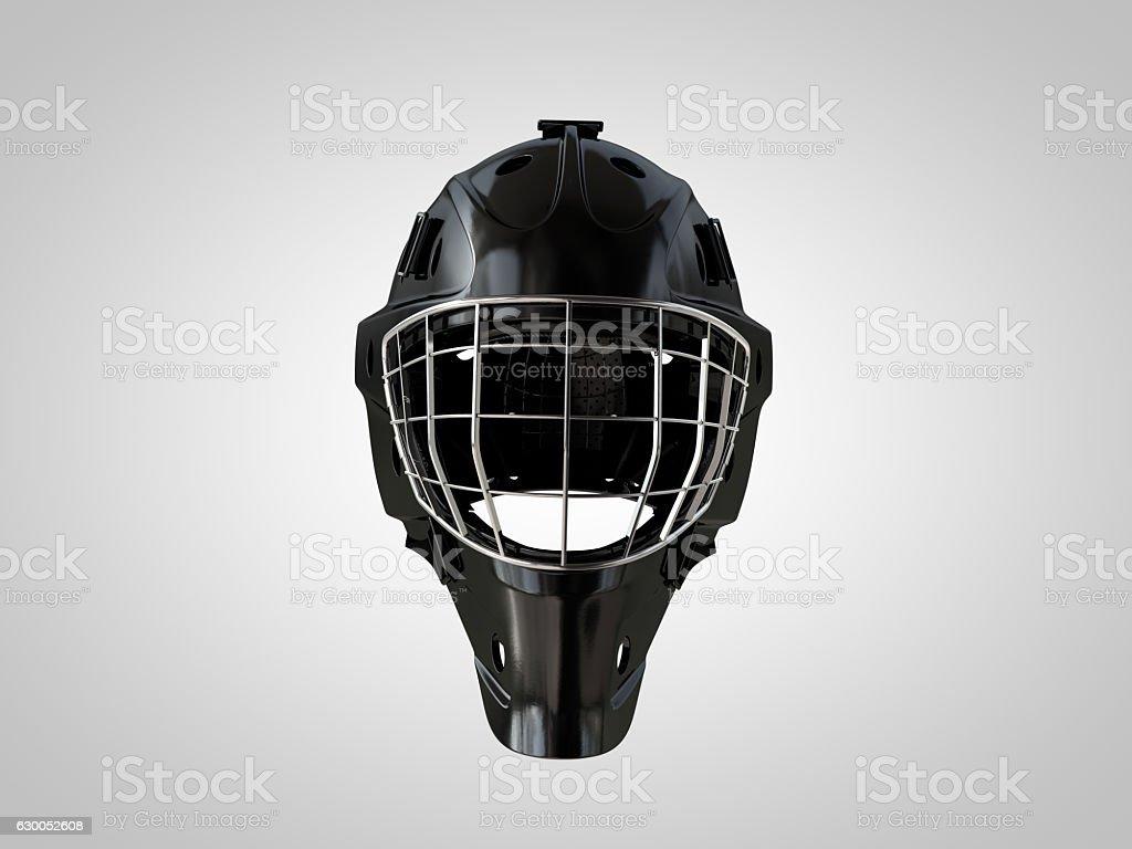 Hockey helm front isolated stock photo