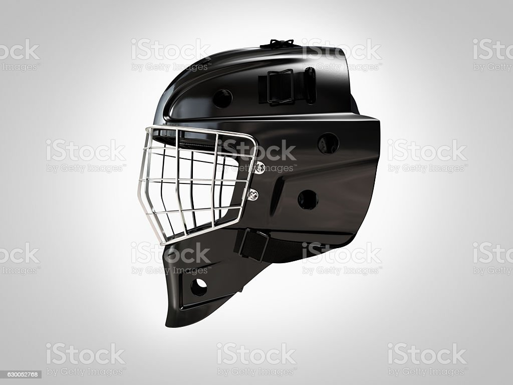 Hockey helm profile isolated stock photo