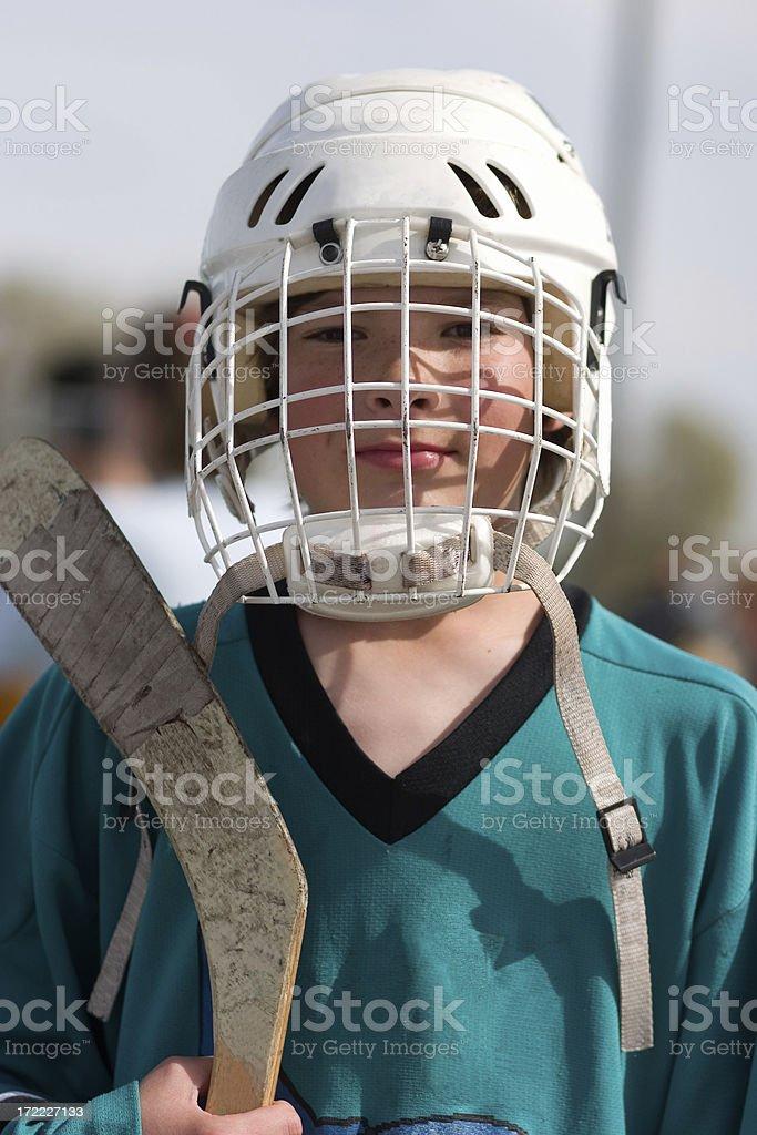 Hockey Kid royalty-free stock photo
