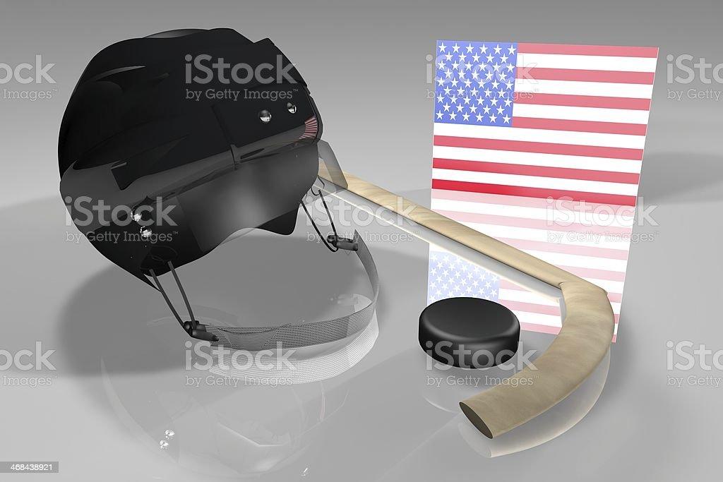 USA Hockey royalty-free stock photo
