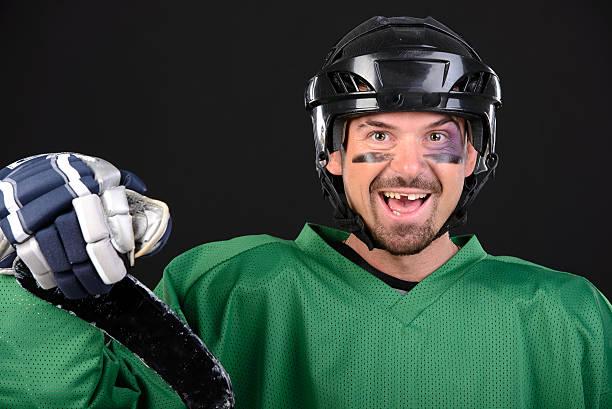 hockey - zahnlücke stock-fotos und bilder