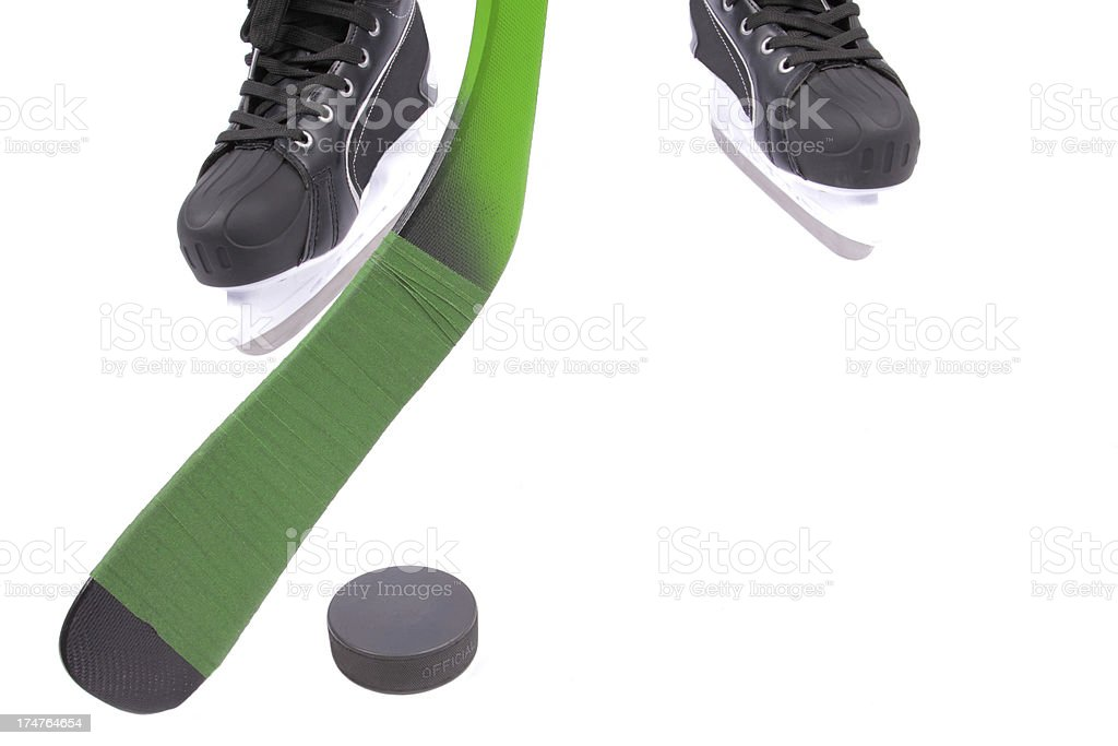hockey player during action royalty-free stock photo