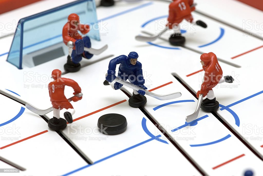 Hockey players royalty-free stock photo